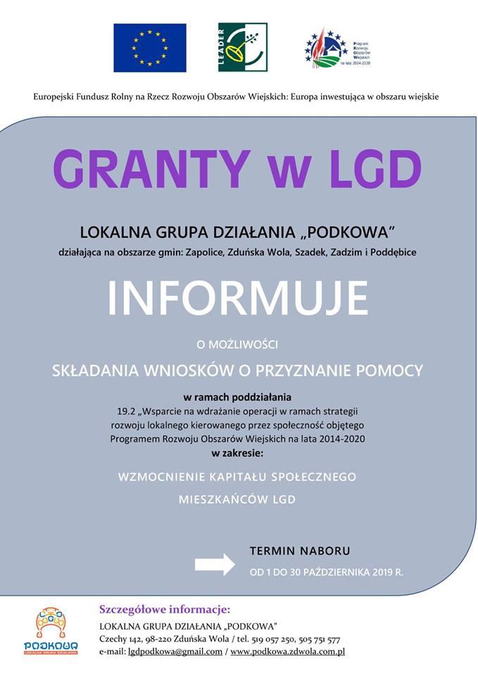 LGD Podkowa informuje